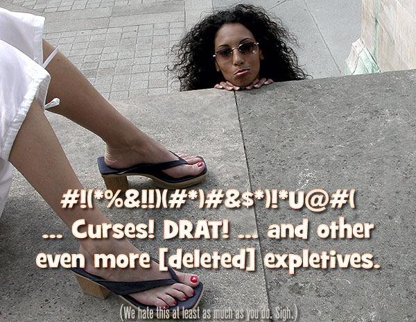 Dee at the feet of Devinn Lane